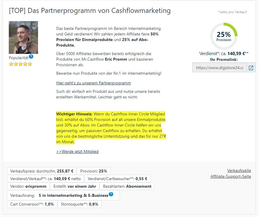 Partnerprogramm von Cashflowmarketing