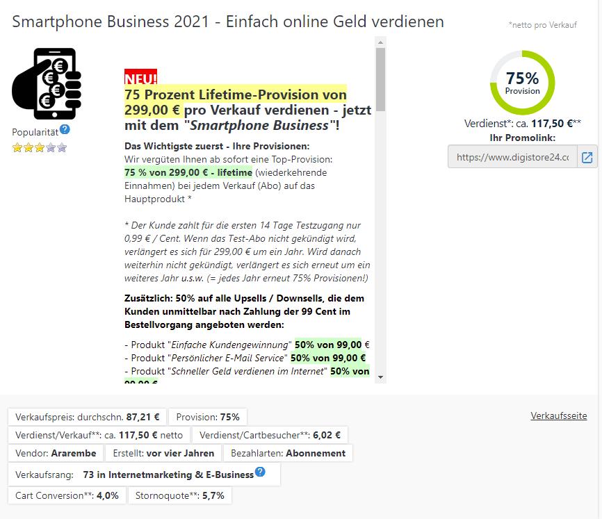 Smartphone Business 2021 - Einfach online Geld verdienen