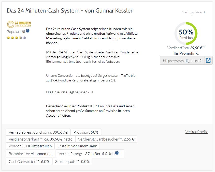 24 Minuten Cash System Erfahrungen