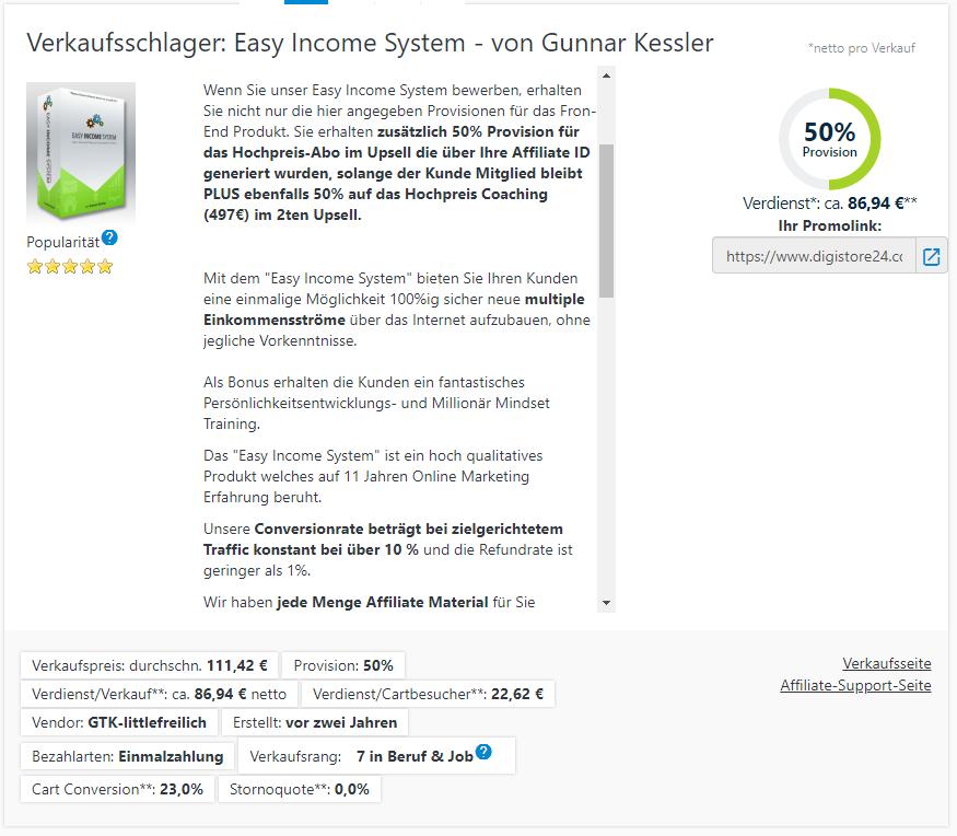gunnar kessler Easy Income System